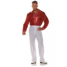 Underwraps Rosso Paillettes 21.3ms Disco Camicia da Uomo Adulto Costume - $22.83