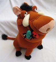 """Disney Lion King Pumbaa Wart Hog w/ Bugs Plush 14.5"""" Stuffed Animal Toy - $27.23"""