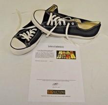 Converse All Star Black Low Basketball Sz 13 DWAYNE WADE Personal Shoes w COA - $148.49