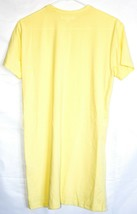 Missguided Pastel Yellow Polyester Blend Crew Neck T-Shirt Dress US 2 | UK 6 image 2