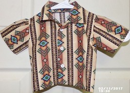 New Native American Toddler Infant Boy Shirt HandMade Absentee Shawnee L... - $29.99