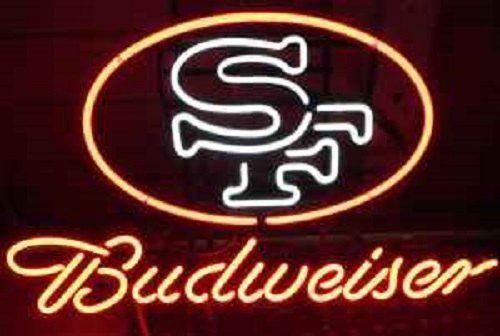 "New San Francisco 49ers Budweiser Beer Bar Neon Sign 24""x20"""