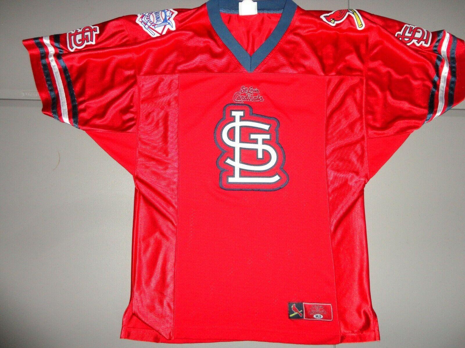 RARE Vtg SEWN St. Louis Cardinals Football Style MLB Baseball Jersey Men M EXCEL