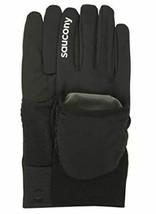 Saucony Ulti-Mitt Sz L Large Convertible Pocket Thermal Running Gloves SA90476