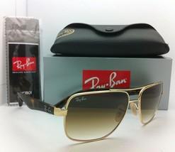 New Ray-Ban Sunglasses RB 3483 001/51 60-16 Gold Tortoise Frames w/ Brown Lenses