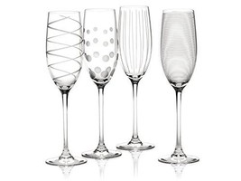 "Creative Tops Mikasa ""cheers"" Set Of 4 Crystal Champagne Flute Glasses, ... - $37.49"