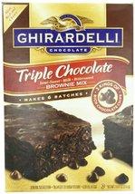 Ghirardelli Triple Chocolate Brownie Mix, Semi-Sweet, Milk, Bittersweet, 120 Oun - $28.31