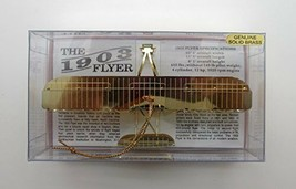 1903 Flyer Plane Brass Ornament 3D - $16.95