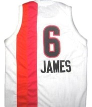 Lebron James #6 Miami Floridians Basketball Custom Jersey Sewn White Any Size image 2