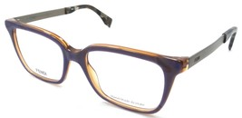 Fendi Rx Eyeglasses Frames FF 0077 DXI 50-17-140 Blue Pearl / Orange Italy - $117.60