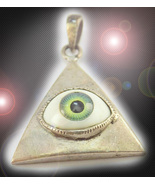 HAUNTED ANTIQUE NECKLACE THE HIGHEST EYES, EARS MIND SECRET OOAK EXTREME... - $3,333.77