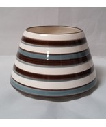 Candle Topper Shade Lid Jar Ceramic Striped Decor Accessory Large Home I... - $22.97