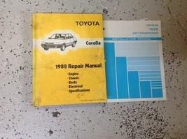 1988 Toyota Corolla Service Shop Repair Manual Set W Ac Installation Book Feo - $44.49
