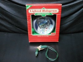 "Hallmark Keepsake ""Santa's On His Way"" 1986 Lighted Hologram Ornament USED - $9.85"