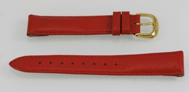 Fossil Womens Stainless Steel Red Leather Replacement Watch Band 18mm - $9.36