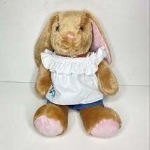 Build A Bear Bunny Plush Spring Easter BAB Tan Pink Stuffed Animal Rabbi... - $23.75