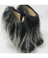 K-NK1220 New Nicholas Kirkwood Fur Booties Leather Black Suede Size 35 U... - $223.09