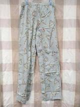 Victoria's Secret PINK Flannel Sleep Bottom Small Gray/Rainbow Candy Cane - $15.00