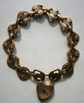 Gold Filled Bracelet with 10K Yellow Gold Trick Lock from the early 1900's  - $76.50