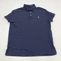 Polo Ralph Lauren Polo Shirt Mens XL Navy White 100% Pima Cotton Striped... - $18.95