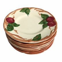 """Set 7 Vintage Franciscan Apple Pattern Bread & Butter Plates Made In USA 6-3/8"""" - $32.39"""