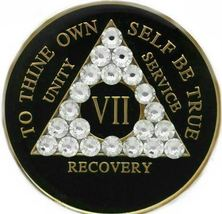 AA Medallion with Swarvoski Crystals  - $25.99