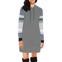 Blue Tone Long Sleeve Hoodie Dress - €36,43 EUR