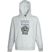 Dachshund short coat can enjoy life - NEW COTTON GREY HOODIE  - $31.88