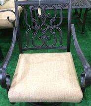 Patio 7 piece dining set oudoor cast aluminum furniture chairs Sunbrella Bronze image 6