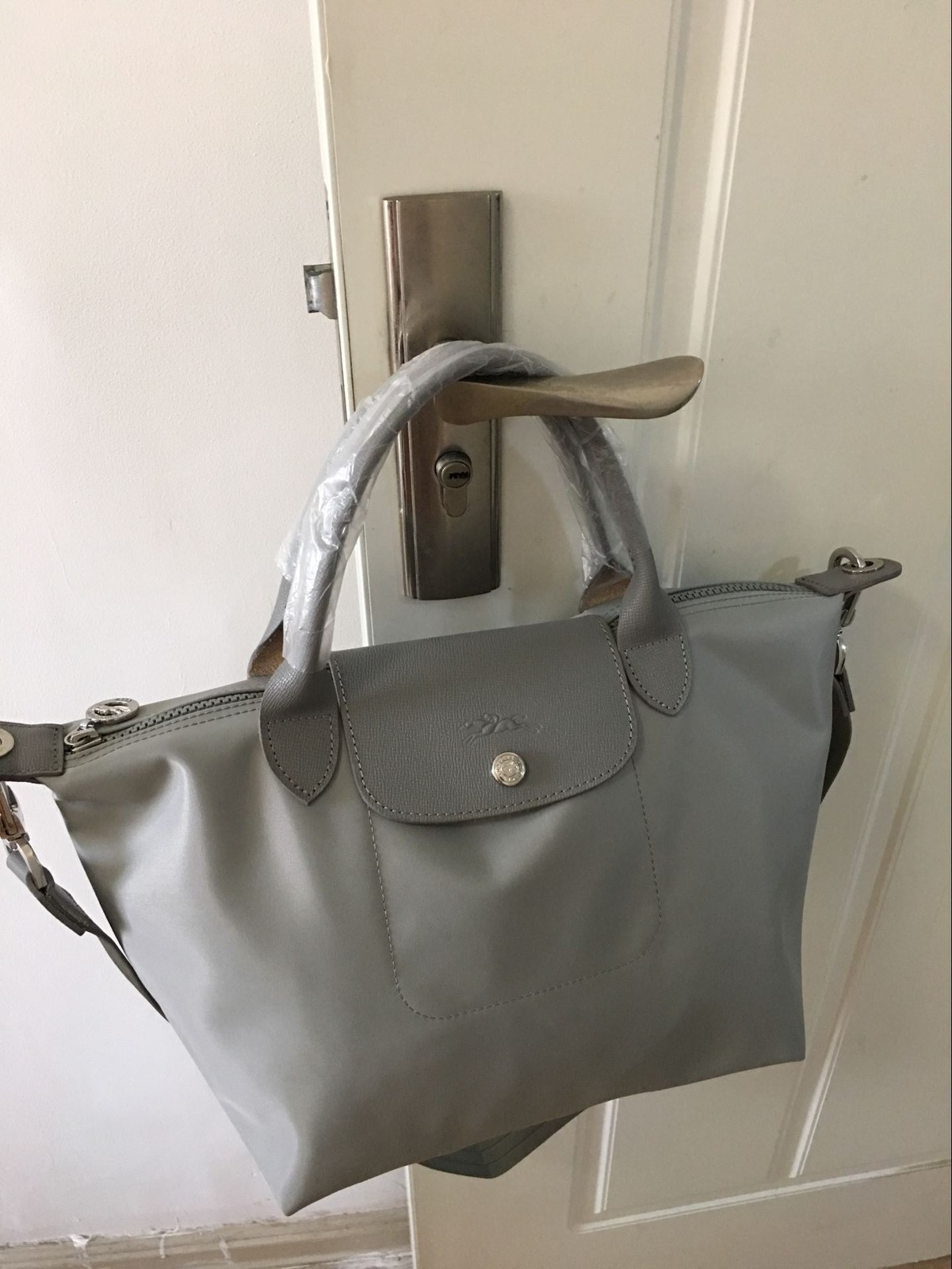 new arrival bd0e3 f88c7 1512pebblegalet. 1512pebblegalet. Previous. Longchamp Le Pliage Neo Small Handbag  Pebble Galet 1512578274