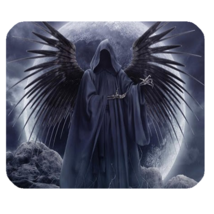 Mouse Pad Dark Angel With Moon Popular Fairy Tale Animation For Fantasy ... - $4.00