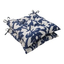 Pillow Perfect Outdoor/Indoor Basalto Navy Tufted Seat Cushions (Square ... - £57.56 GBP