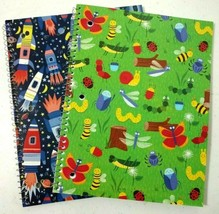 Boys Spiral Notebooks Space Rockets Camping Insects Wide Ruled 70 Sheets... - $19.93 CAD