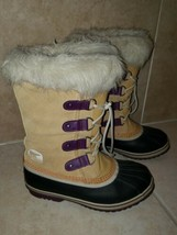 Sorel Brown Suede / Rubber / Furry US 6 Duck Boots Womens - $49.99