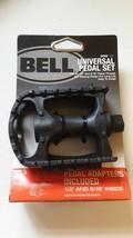"Bell Kicks 350 Universal Bike Pedal Set Fits 1/2""- 9/16"" Black NEW - $9.49"