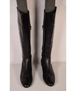 AK Anne Klein Womens Boots Black Tall Leather 9 M - $49.50