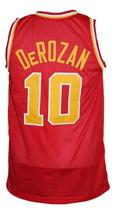 Demar Derozan #10 College Basketball Jersey Sewn Red Any Size image 2