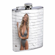 Norwegian Pin Up Girls D8 Flask 8oz Stainless Steel Hip Drinking Whiskey - $13.81