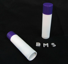 50 Lip Balm Tubes Purple Cap Empty DIY Beauty Containers 0.15 oz. #9120 - $23.95