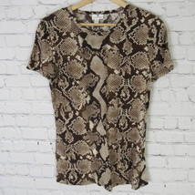 Altzurra Target Shirt Top Womens SMall S Brown Snake Print D49 - $27.88