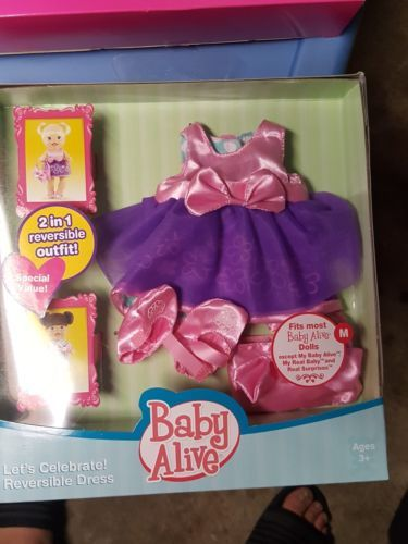 NEW BABY ALIVE CUTE AND COZY REVERSIBLE OUTFIT 2011