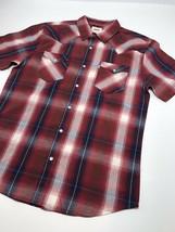 Men's Levi's Burgundy | Navy | WhitePlaid S/S Button Down Shirt - $69.00