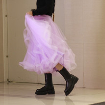 Layered Tulle Skirt Princess Outfit Plus Size Wedding Outfit Purple Tiered Skirt image 8