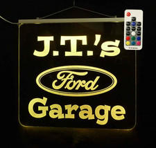 Ford Sign, Personalized Garage Sign - LED Man Cave Sign, Home Bar Sign  - $128.70+
