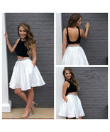 Short Two Pieces Prom Dresses, Girls Cocktail Gowns Mini ,Wedding Party ... - $103.00