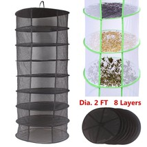 Collapsible 8 Layers Hanging Net Drying Rack Wardrobe Clothes Basket Lau... - $36.08