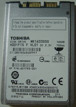 "1.8"" 160GB Micro SATA Hard Drive Toshiba MK1633GSG Free USA Shipping - $27.83"