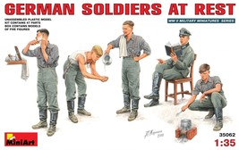 Miniart Models - 35062 - German Soldiers At Rest - 1/35 - $15.99