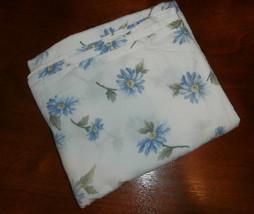 Royale Queen Flat Sheet Blue Flowers  - $11.64