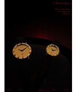 Watch Ad 1983 Gucci Mens Ladies Swiss Quartz Watches Timekeeping Fashion - $10.99